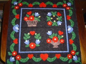 Baltimore Style Applique Quilt Top