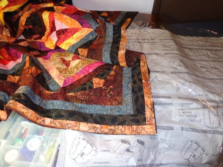 attaching binding to quilt