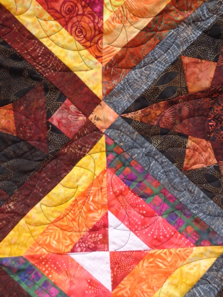 quilting close up front of quilt samurai