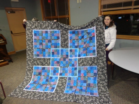 samurai sudoku quilt with borders