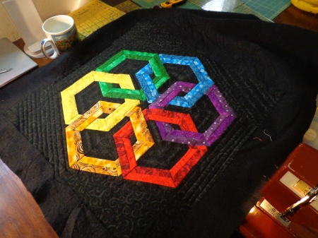 hexadaisy quilted inside outside one section