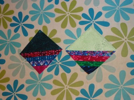 paper piecing backgrounds for name tags