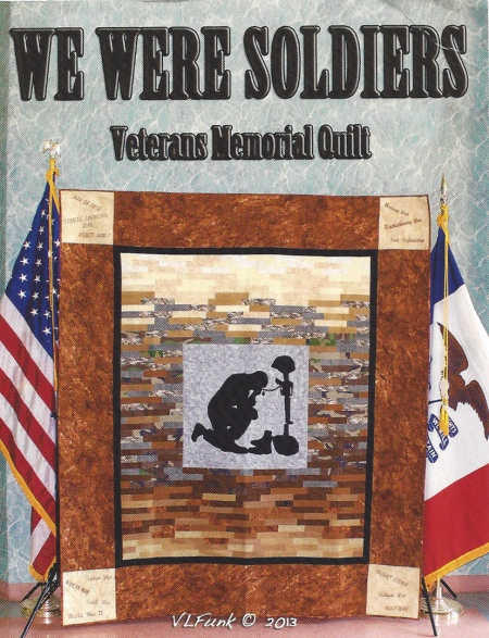 we were soldiers postcard quilt