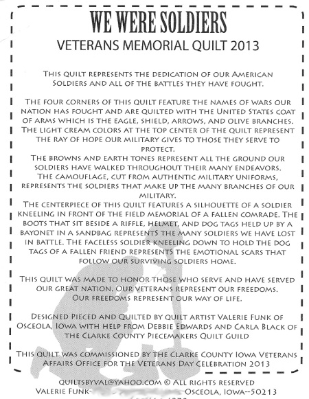 we weres soldiers postcard info