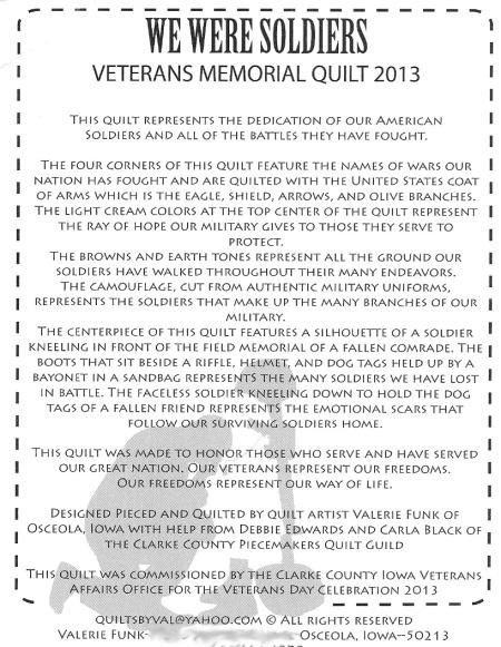 we weres soldiers postcard info