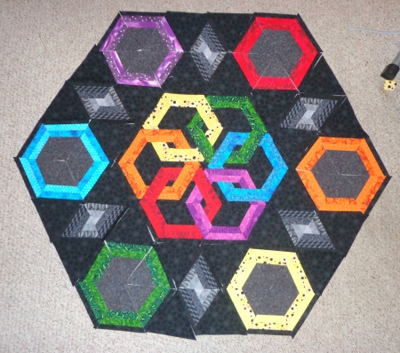 layout for larger hexadaisy squared