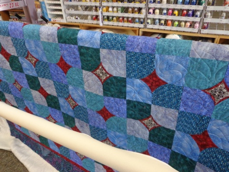 ten minute teal quilted
