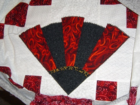 fans and bows initial stitch of fans