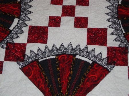 fans with quilting and lace