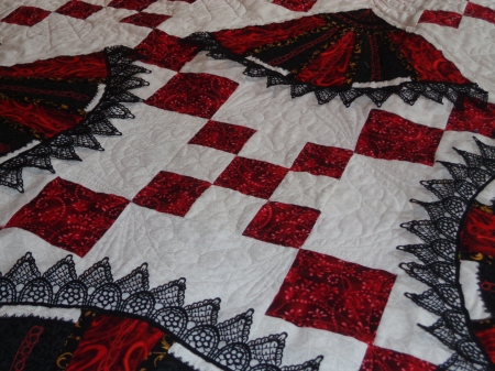 quilting with lace attached