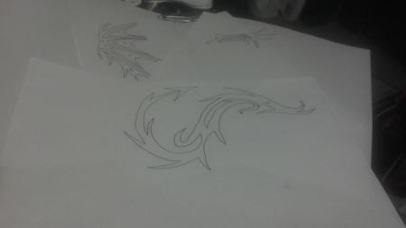 drawingsofdragons at an angle