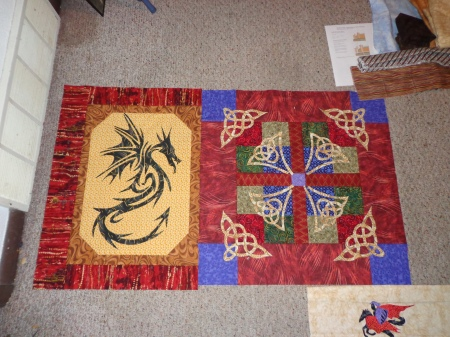 celtic section and dragon section