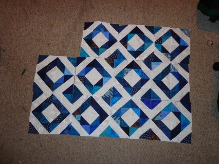 mandys blue and white sunshine quilt