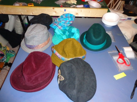 several hats
