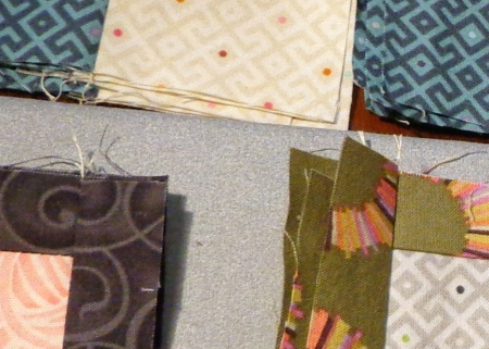 small snippet of tinas fabrics in process