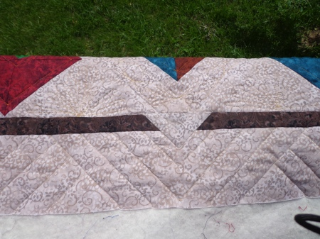 straight line border quilting
