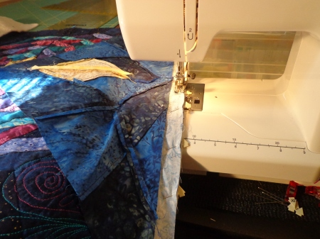sewing first corners on