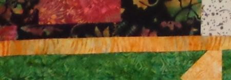 small snippit tamis quilt bottom left corner