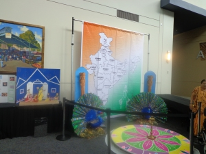 india map and peacocks