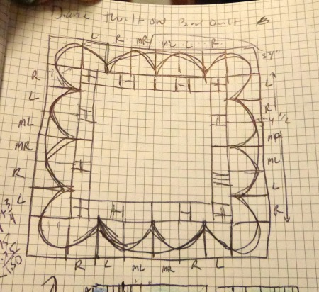 sketch of quilt borders smaller
