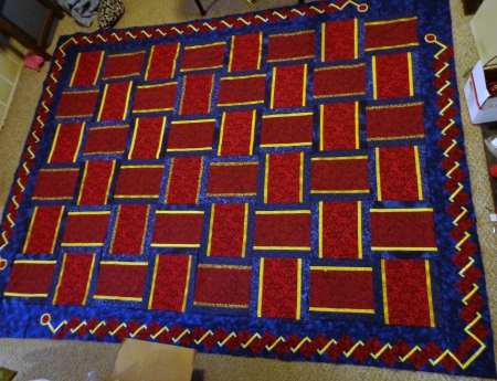 weave border top completed with weaved borders