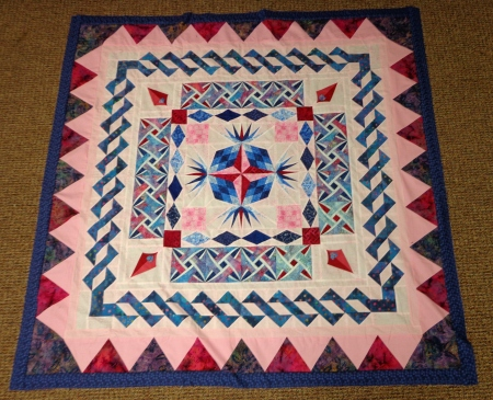 Darlas round robin quilt finished top