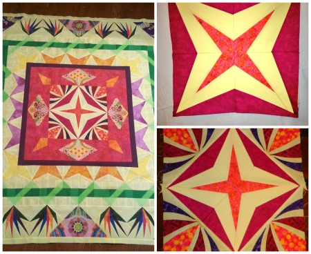 daisys finished quilt center and my portion