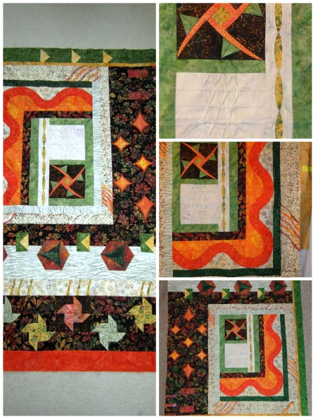 tamis finished quilt center and my portion