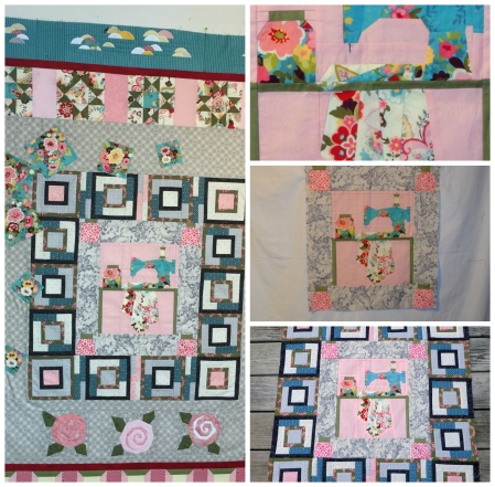 tinas finished quilt center and my portion