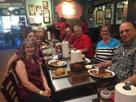 twilters and spouses at barbecue Joes