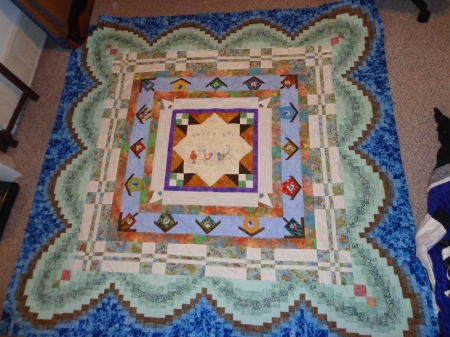 Round Robin Dianes Twilt On quilt with Darla borders