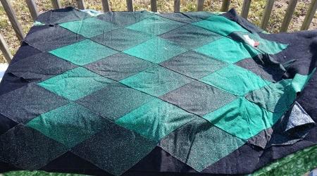 black and green ombre diamond