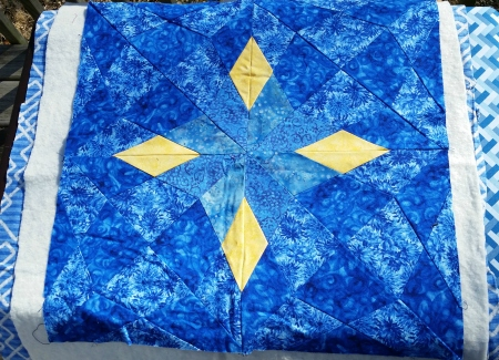 blue four corner diamond