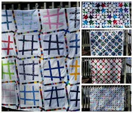 Larger Quilt tops to Back and Quilt