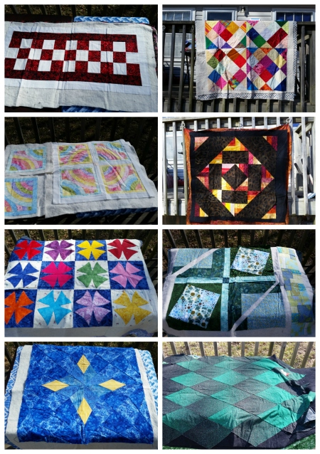 small basted quilts to quilt
