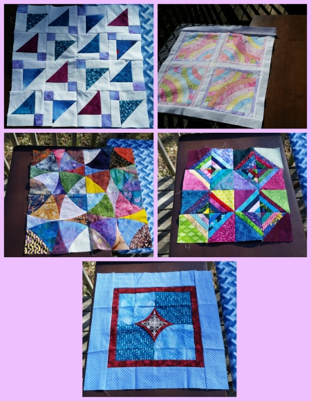 small tops to back and quilt