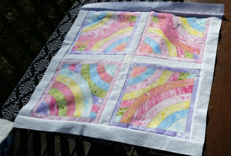 pastel rainbow quilt no backing