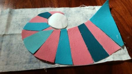 heat bond pieces layout front